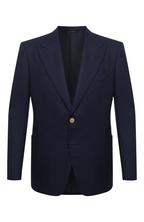 Мужской шерстяной пиджак TOM FORD темно-синего цвета, арт. 11HA40/Q50R22   Фото 1