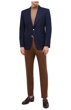 Мужской шерстяной пиджак TOM FORD темно-синего цвета, арт. 11HA40/Q50R22   Фото 2