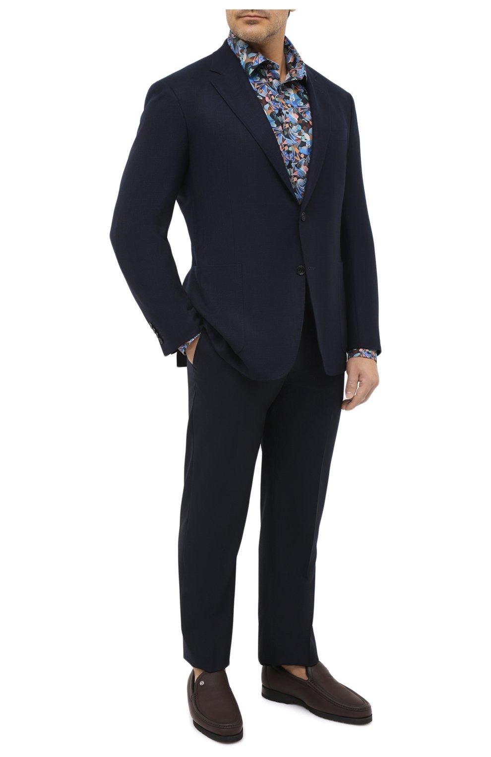 Мужская хлопковая рубашка ETON синего цвета, арт. 1000 01812 | Фото 2