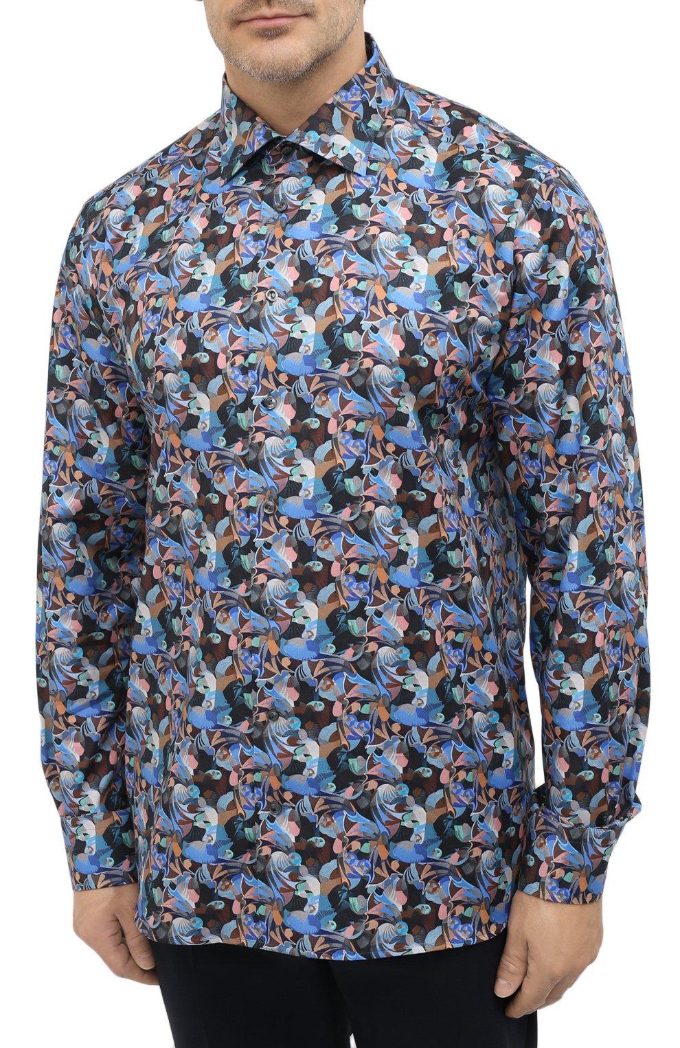 Мужская хлопковая рубашка ETON синего цвета, арт. 1000 01812 | Фото 3