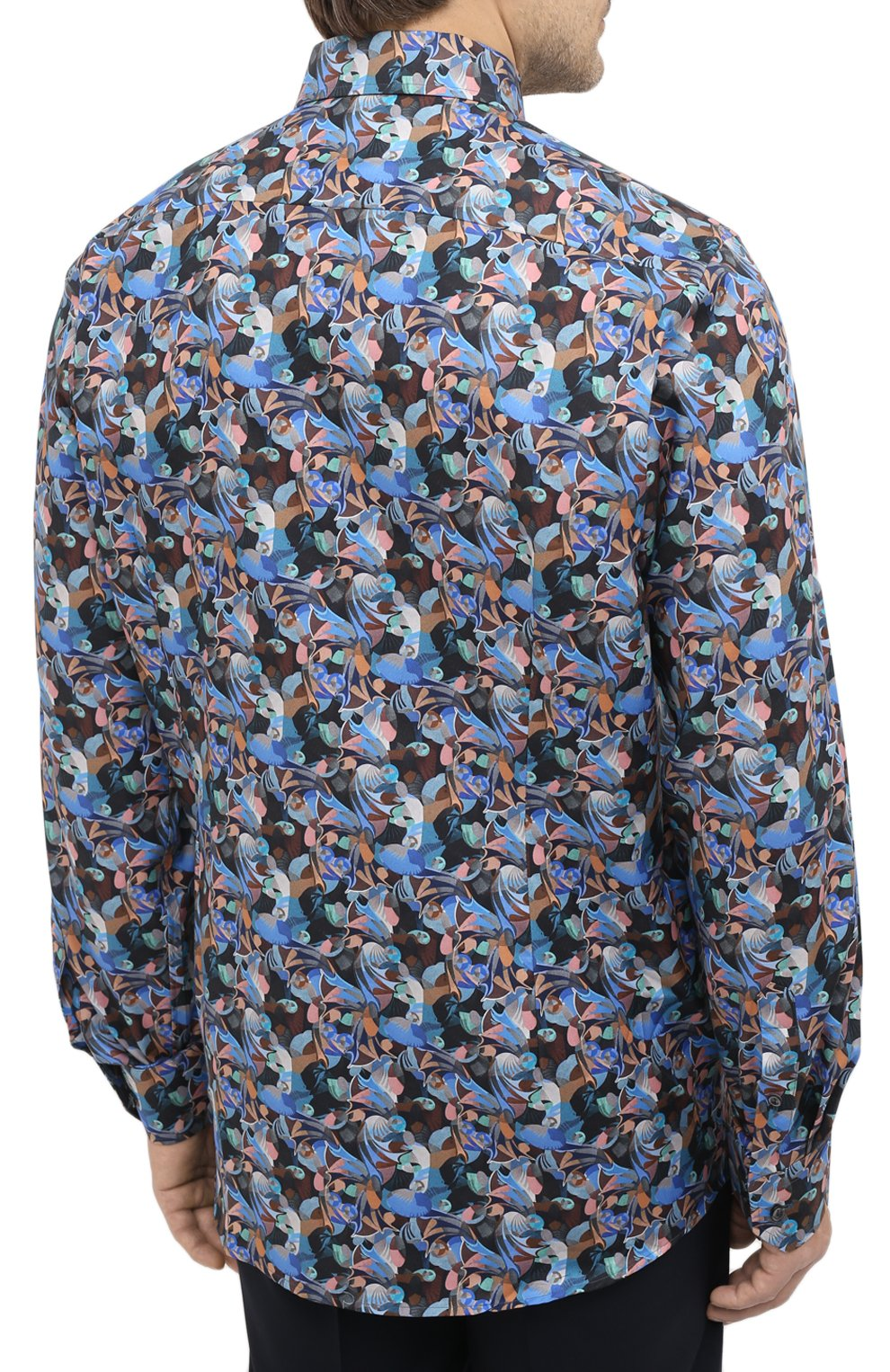 Мужская хлопковая рубашка ETON синего цвета, арт. 1000 01812 | Фото 4