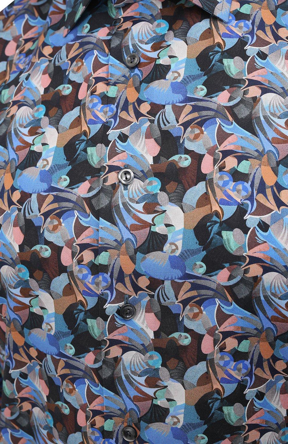 Мужская хлопковая рубашка ETON синего цвета, арт. 1000 01812 | Фото 5
