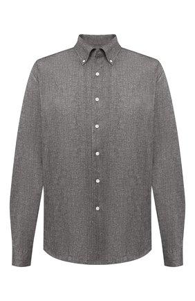 Мужская хлопковая рубашка SONRISA коричневого цвета, арт. IFJ7167/J134/47-51 | Фото 1