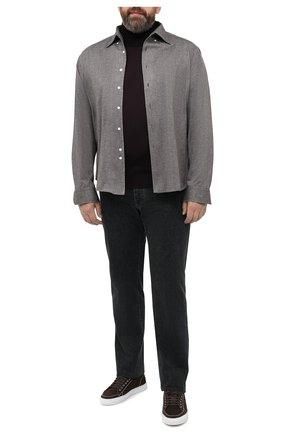 Мужская хлопковая рубашка SONRISA коричневого цвета, арт. IFJ7167/J134/47-51 | Фото 2