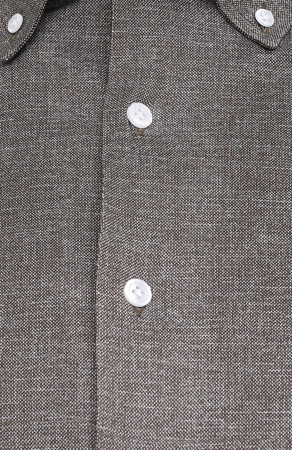 Мужская хлопковая рубашка SONRISA коричневого цвета, арт. IFJ7167/J134/47-51   Фото 5