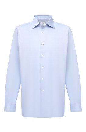 Мужская хлопковая сорочка BRIONI голубого цвета, арт. RCL40V/PZ065 | Фото 1