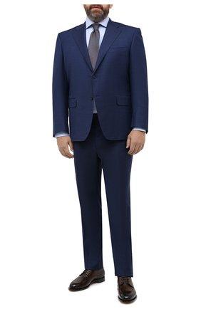 Мужская хлопковая сорочка BRIONI голубого цвета, арт. RCL40V/PZ065 | Фото 2