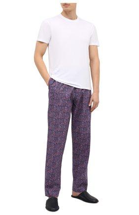 Мужские домашние брюки ZIMMERLI синего цвета, арт. 4700-75180 | Фото 2