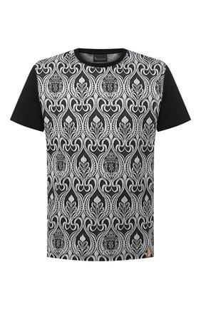 Мужская хлопковая футболка BILLIONAIRE черно-белого цвета, арт. O20C MTK4813 BTE014N   Фото 1
