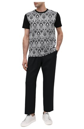Мужская хлопковая футболка BILLIONAIRE черно-белого цвета, арт. O20C MTK4813 BTE014N   Фото 2