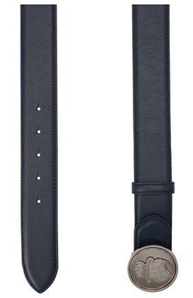 Мужской кожаный ремень BILLIONAIRE темно-синего цвета, арт. W20A MVA0577 BLE029N | Фото 2