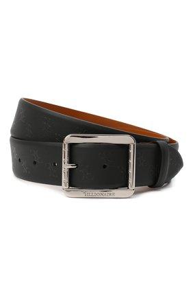 Мужской кожаный ремень BILLIONAIRE черного цвета, арт. W20A MVA0575 BLE029N | Фото 1