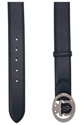 Мужской кожаный ремень BILLIONAIRE темно-синего цвета, арт. W20A MVA0583 BLE029N | Фото 2