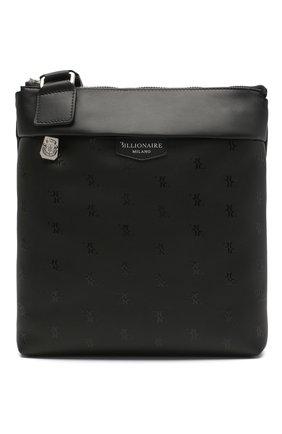 Мужская кожаная сумка BILLIONAIRE черного цвета, арт. W20A MBA0956 BLE029N   Фото 1