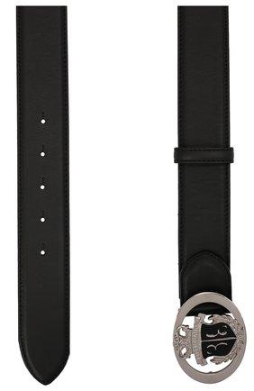 Мужской кожаный ремень BILLIONAIRE черного цвета, арт. W20A MVA0583 BLE029N | Фото 2