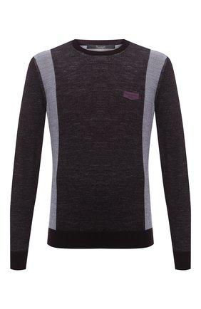 Мужской шерстяной джемпер BILLIONAIRE фиолетового цвета, арт. W20C MKO0886 BCO025N | Фото 1