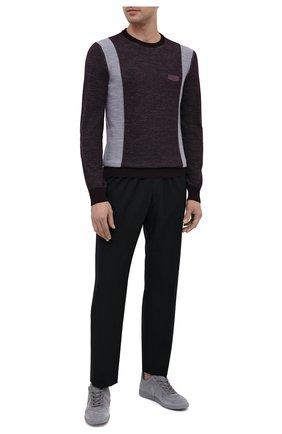 Мужской шерстяной джемпер BILLIONAIRE фиолетового цвета, арт. W20C MKO0886 BCO025N | Фото 2