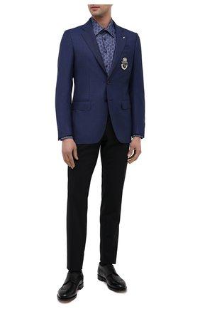 Мужской шерстяной пиджак BILLIONAIRE темно-синего цвета, арт. W20C MRF1253 BTE004N   Фото 2