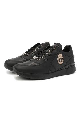 Мужские кожаные кроссовки BILLIONAIRE черного цвета, арт. W20S MSC2890 BXV016N   Фото 1