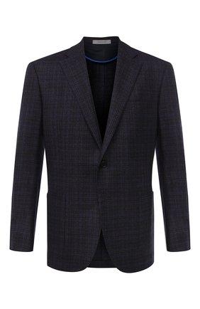 Мужской шерстяной пиджак CORNELIANI фиолетового цвета, арт. 86X240-0816221/90 | Фото 1
