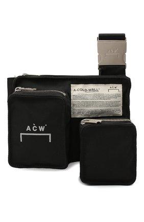 Мужская текстильная сумка A-COLD-WALL* черного цвета, арт. ACWUG025 | Фото 1