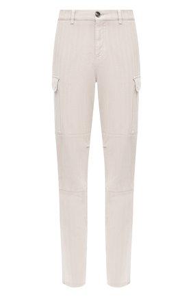 Мужские хлопковые брюки-карго BRUNELLO CUCINELLI белого цвета, арт. M269DS2160 | Фото 1
