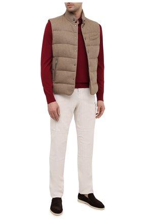 Мужские хлопковые брюки-карго BRUNELLO CUCINELLI белого цвета, арт. M269DS2160 | Фото 2