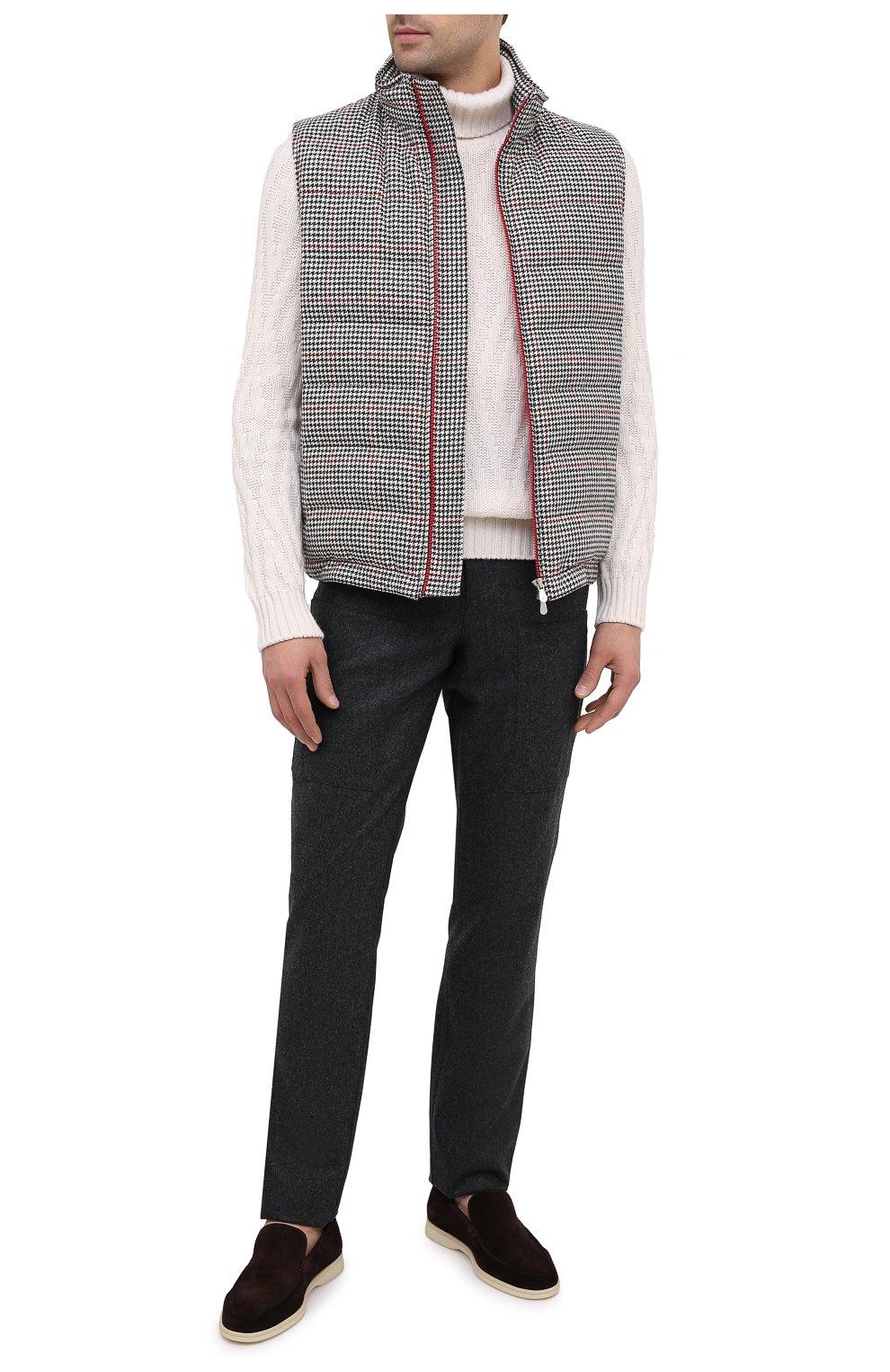Мужские шерстяные брюки BRUNELLO CUCINELLI темно-серого цвета, арт. M038PE1460 | Фото 2