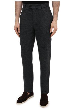 Мужские шерстяные брюки BRUNELLO CUCINELLI темно-серого цвета, арт. M038PE1460 | Фото 3