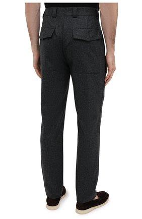 Мужские шерстяные брюки BRUNELLO CUCINELLI темно-серого цвета, арт. M038PE1460 | Фото 4