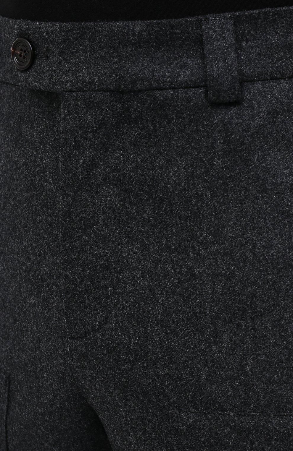 Мужские шерстяные брюки BRUNELLO CUCINELLI темно-серого цвета, арт. M038PE1460 | Фото 5