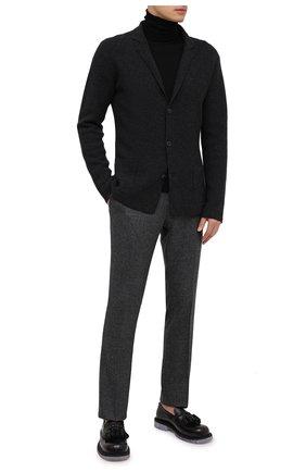 Мужские шерстяные брюки BERWICH темно-серого цвета, арт. SC/1 ALC/RD1436   Фото 2