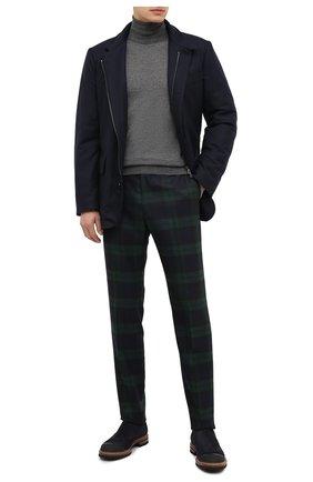 Мужские шерстяные брюки BERWICH темно-зеленого цвета, арт. VULCAN0Z/AM1260 | Фото 2