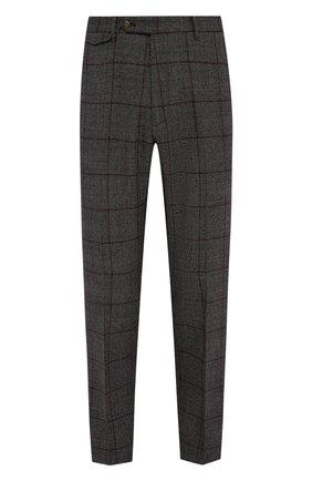Мужские шерстяные брюки BERWICH темно-серого цвета, арт. VULCAN0Z/AN1311   Фото 1 (Материал подклада: Купро; Длина (брюки, джинсы): Стандартные; Материал внешний: Шерсть; Случай: Повседневный; Стили: Кэжуэл)