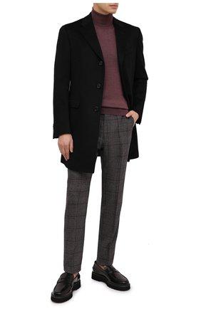Мужские шерстяные брюки BERWICH темно-серого цвета, арт. VULCAN0Z/AN1311   Фото 2 (Материал подклада: Купро; Длина (брюки, джинсы): Стандартные; Материал внешний: Шерсть; Случай: Повседневный; Стили: Кэжуэл)