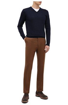 Мужские шерстяные брюки BERWICH коричневого цвета, арт. VULCAN0Z/VB8996 | Фото 2