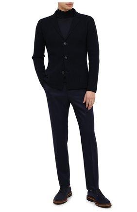 Мужские шерстяные брюки BERWICH темно-синего цвета, арт. VULCAN0Z/VB8996 | Фото 2