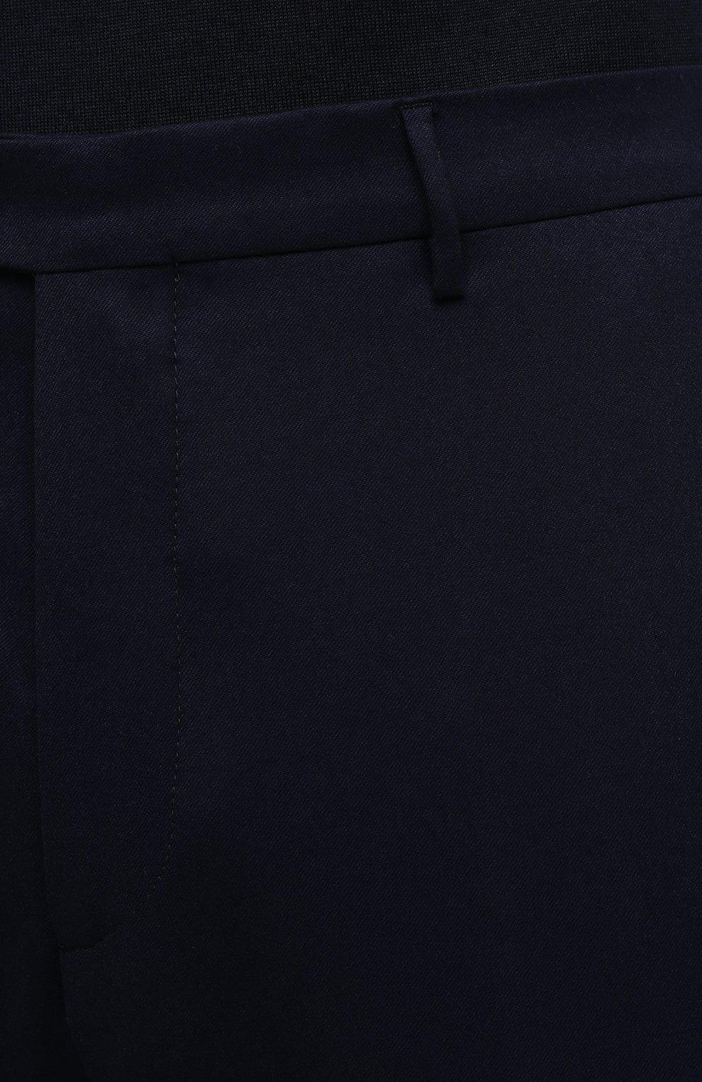 Мужские шерстяные брюки BERWICH темно-синего цвета, арт. VULCAN0Z/VB8996 | Фото 5 (Материал внешний: Шерсть; Длина (брюки, джинсы): Стандартные; Случай: Повседневный; Материал подклада: Купро; Стили: Кэжуэл)