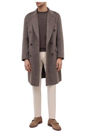 Мужские шерстяные брюки BERWICH белого цвета, арт. VULCAN0Z/VB8996 | Фото 2
