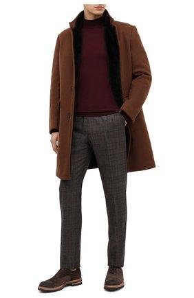 Мужской шерстяные брюки BERWICH темно-коричневого цвета, арт. VULCAN0Z/ZG1914X   Фото 2