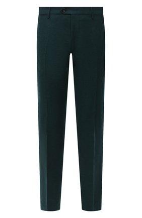 Мужские шерстяные брюки BERWICH зеленого цвета, арт. ZIP/1 ALC/VB1504 | Фото 1