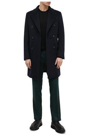 Мужские шерстяные брюки BERWICH зеленого цвета, арт. ZIP/1 ALC/VB1504 | Фото 2