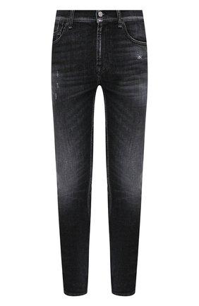 Мужские джинсы 7 FOR ALL MANKIND черного цвета, арт. JSD4A550TC | Фото 1