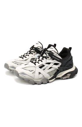 Мужские комбинированные кроссовки track.2 BALENCIAGA черно-белого цвета, арт. 568614/W2GN3   Фото 1