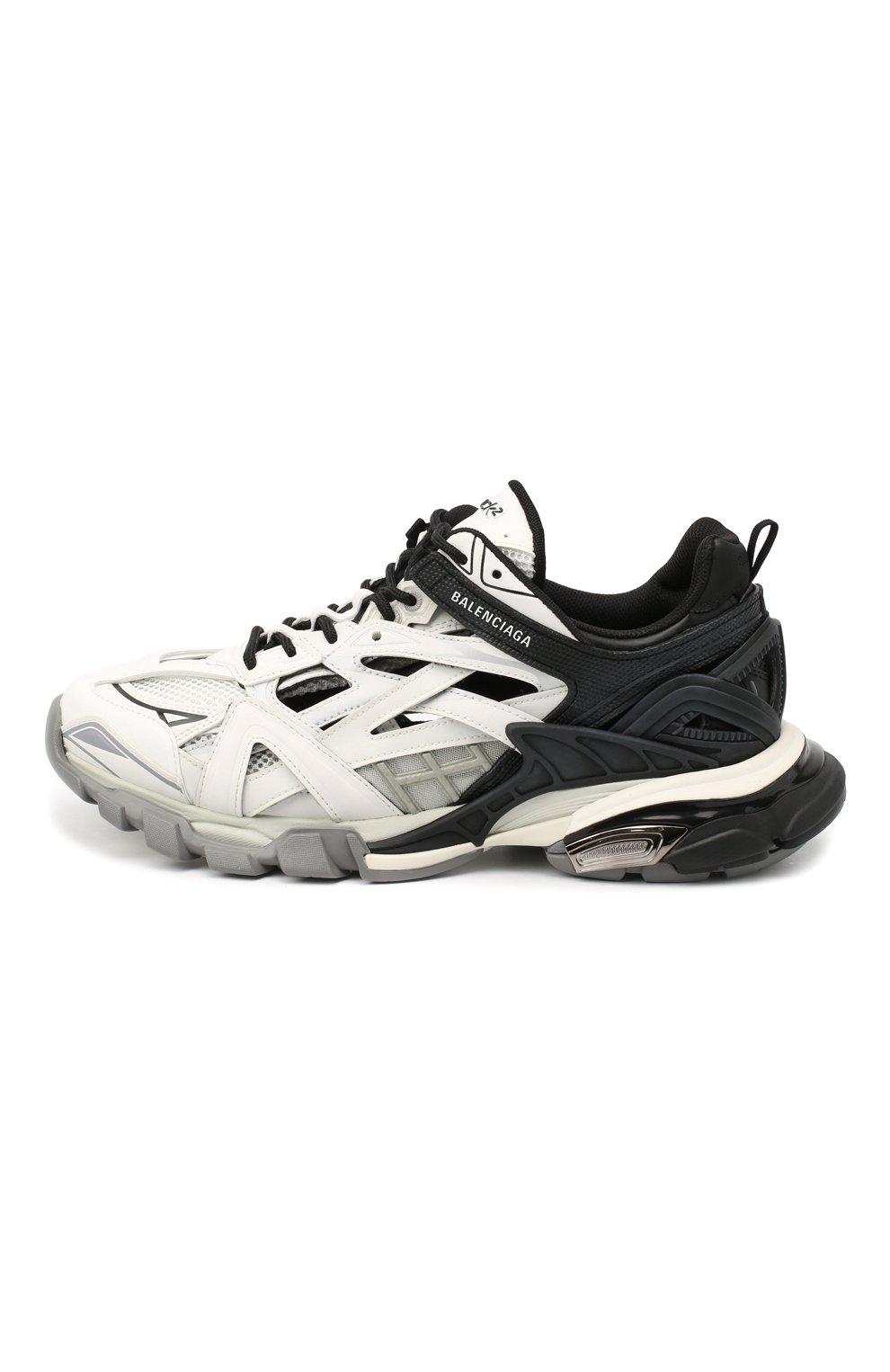 Мужские комбинированные кроссовки track.2 BALENCIAGA черно-белого цвета, арт. 568614/W2GN3   Фото 3