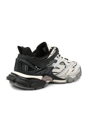 Мужские комбинированные кроссовки track.2 BALENCIAGA черно-белого цвета, арт. 568614/W2GN3   Фото 4