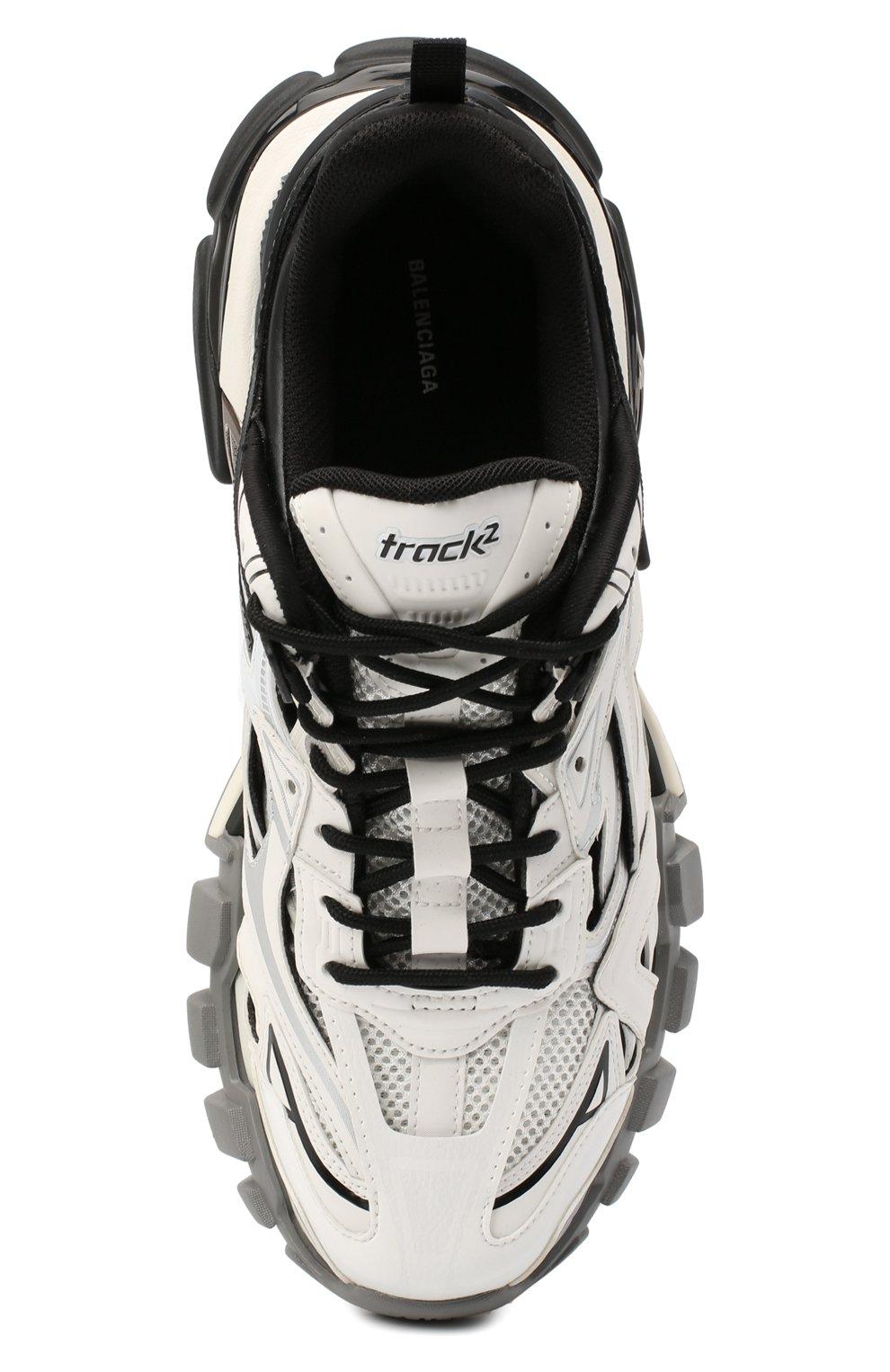 Мужские комбинированные кроссовки track.2 BALENCIAGA черно-белого цвета, арт. 568614/W2GN3   Фото 5
