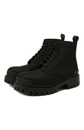 Мужские текстильные ботинки BALENCIAGA черного цвета, арт. 624548/W2AI0 | Фото 1 (Материал внешний: Текстиль; Подошва: Массивная; Материал внутренний: Натуральная кожа; Мужское Кросс-КТ: Ботинки-обувь)