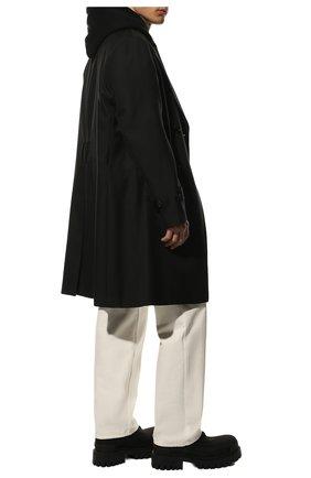 Мужские текстильные ботинки BALENCIAGA черного цвета, арт. 624548/W2AI0 | Фото 2 (Материал внешний: Текстиль; Подошва: Массивная; Материал внутренний: Натуральная кожа; Мужское Кросс-КТ: Ботинки-обувь)