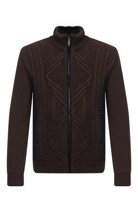 Мужская куртка с меховой подкладкой ZILLI коричневого цвета, арт. MBU-NC205-CACL1/ML03   Фото 1